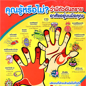 illustrated germs and handwashing poster